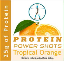 Load image into Gallery viewer, Precision Health 25g Whey Protein & Collagen Power Shots - Tropical Orange (30 Bottles)
