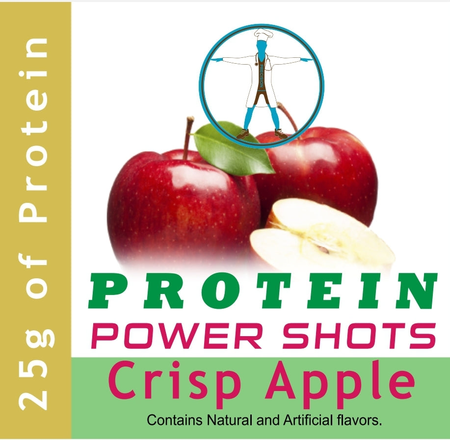 Precision Health 25g Whey Protein & Collagen Power Shots - Crisp Apple (30 Bottles)