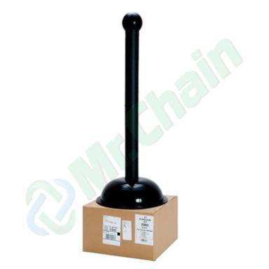 Black Knock Down Crowd Control Plastic Stanchions