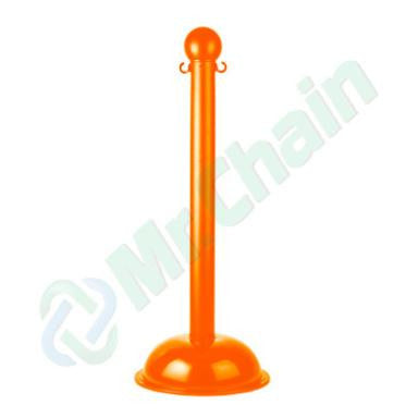 Orange Crowd Control Plastic Stanchions
