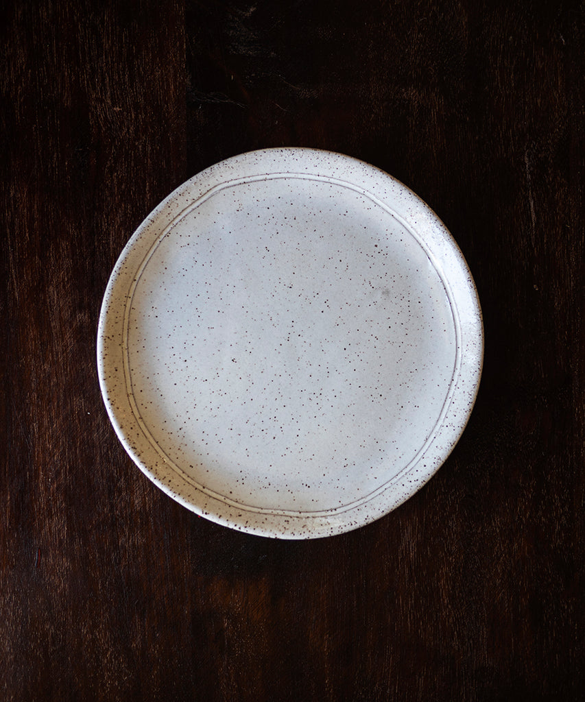 SPECKLED CERAMIC APP PLATE (SET OF 4)
