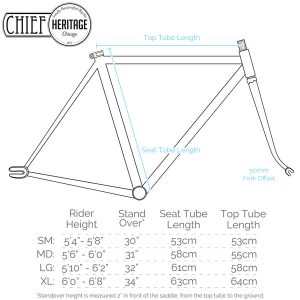Heritage Chief Frame Specs
