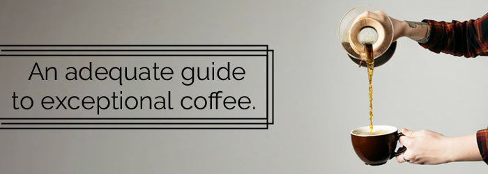 An adequate guide to exceptional coffee.