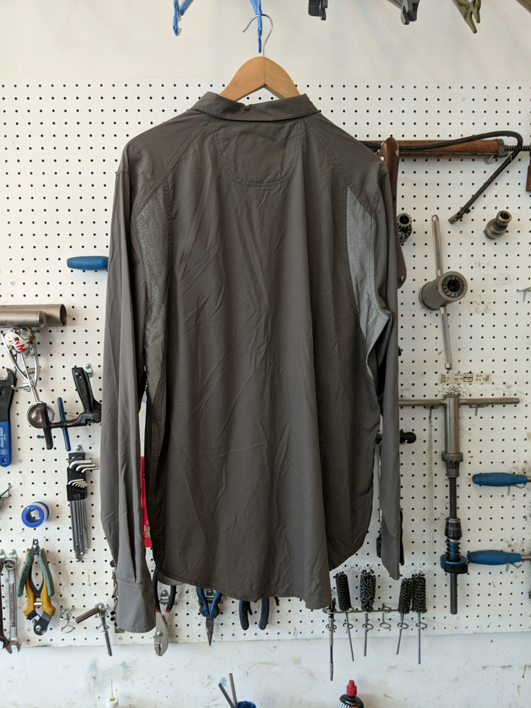 Upright cyclist men's large long sleeve