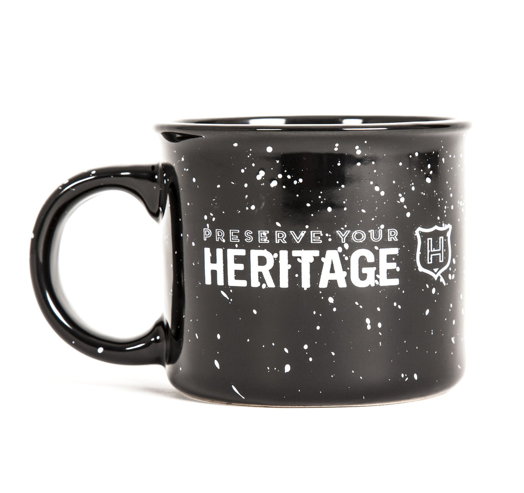 heritage coffee mug black