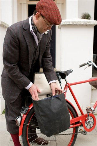 Brooks Brick Lane Roll-up Pannier tweed