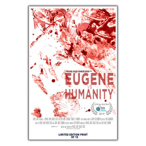 "Eugene Vs  Humanity (""Long Story Shorts"" Poster) - 12""x18"" *Signed & Numbered*"