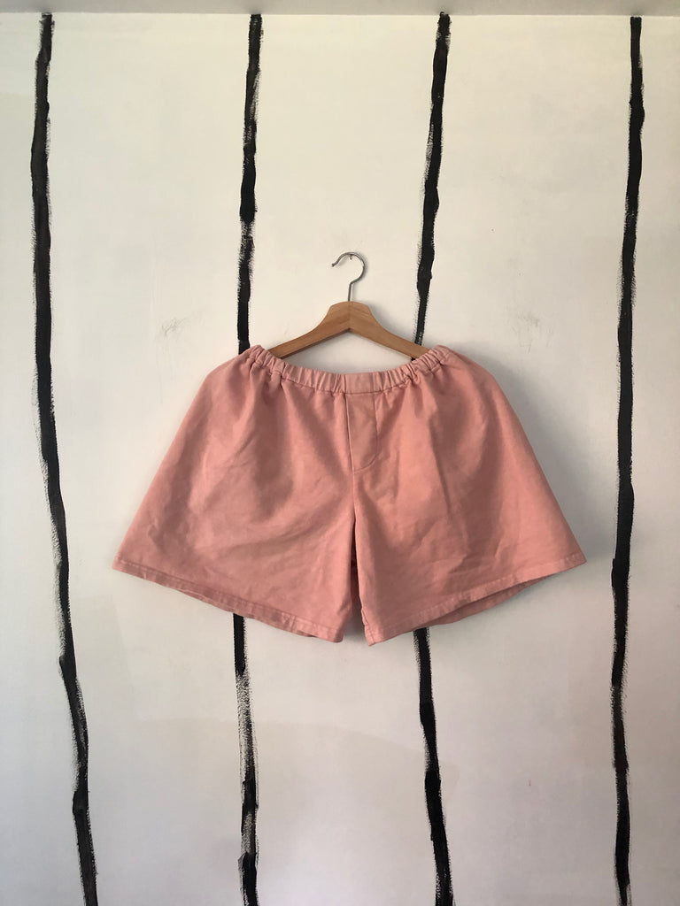 Audrey Louise Reynolds X et Tigre OVERSIZED BOXER SHORT in FORAGED SUMAC AND FLOWERS PINK PREORDER CLOSED