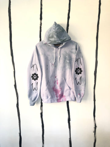 ALR GUN CONTROL NOW Hoodie in BLEAK ASS SKY GREY, IN THE WOODS NOW GREEN AND LILAC
