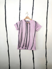 ** BRAND NEW - ALR LILAC WITH BURNT FOOD WASTE STRIPES CLASSIC T-SHIRT