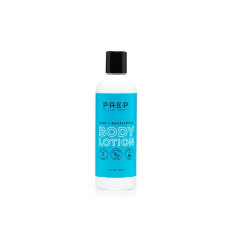 Peppermint Eucalyptus Body Lotion, Front, Blue