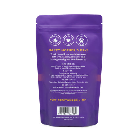 PREP Your Skin - Lavender Eucalyptus Bath Soak, Back