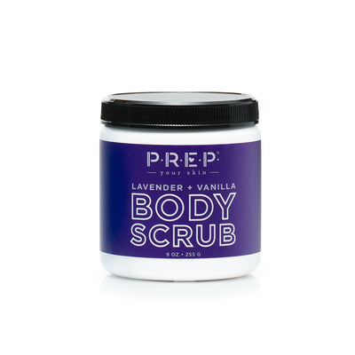 Lavender Vanilla Body Scrub by Prep Your Skin, Front