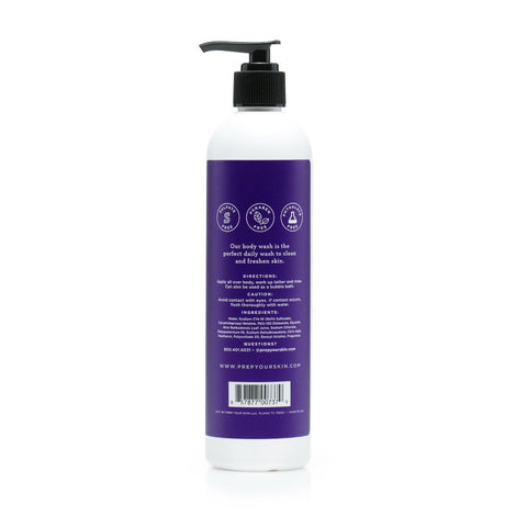 Lavender Vanilla Body Wash, Back