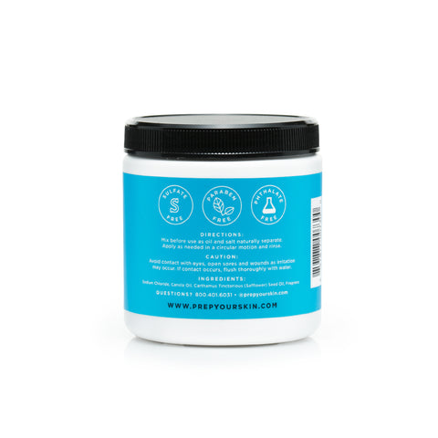 Peppermint Eucalyptus Body Scrub by PREP Your Skin, Back