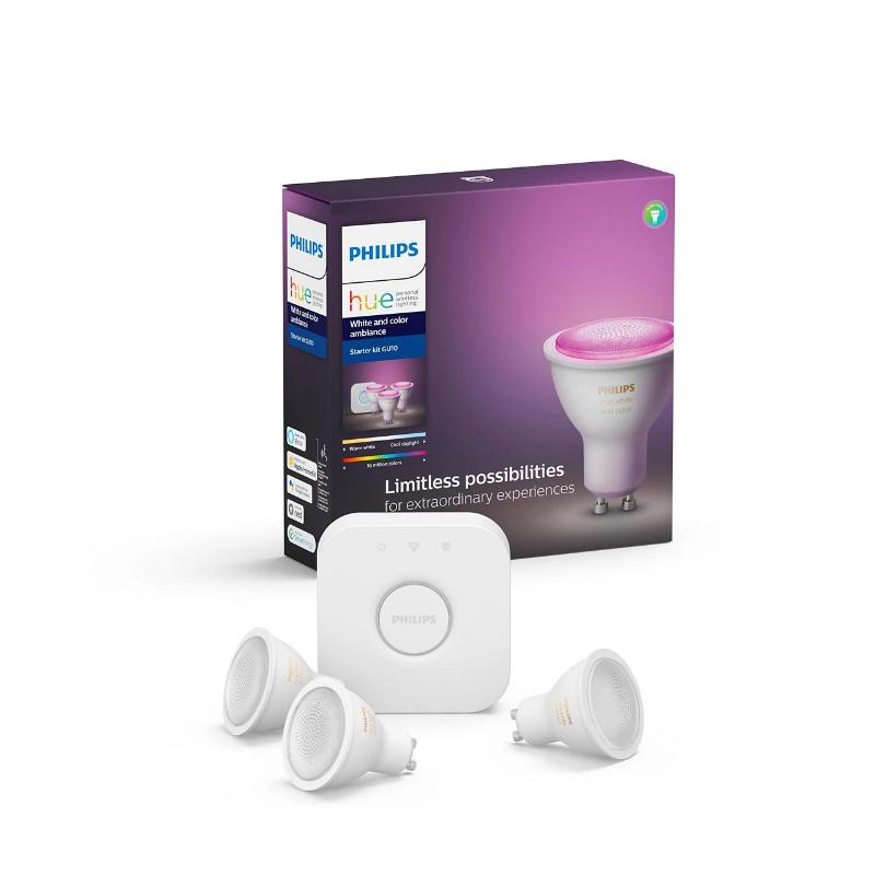 Philips Hue White and Color Ambiance GU10 -aloituspakkaus - kozyfi.myshopify.com