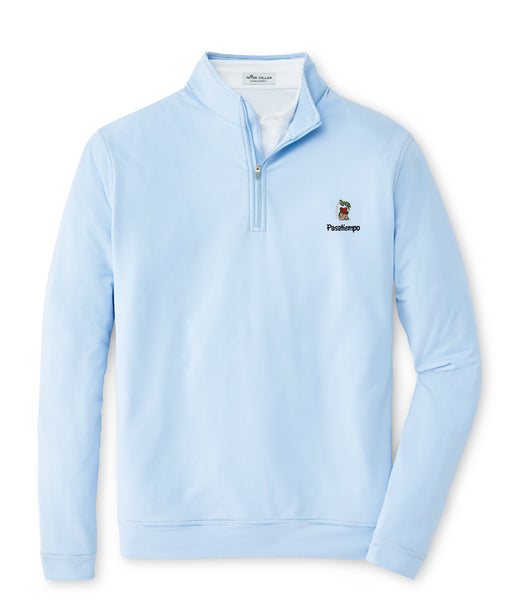 Peter Millar Perth Sugar Stripe Quarter Zip - Blue