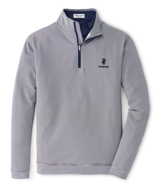 Peter Millar Perth Sugar Stripe Quarter Zip - Navy