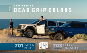 Bahia Blue 701 and Gloss Titanium 703 Bead Grip Wheels