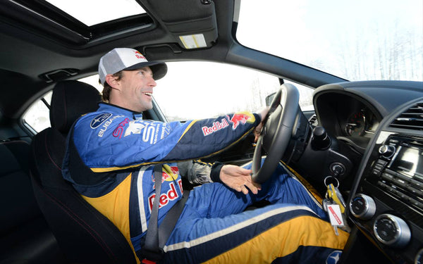 Travis Pastrana gets his bearings in a Subaru after a short stint in NASCAR.