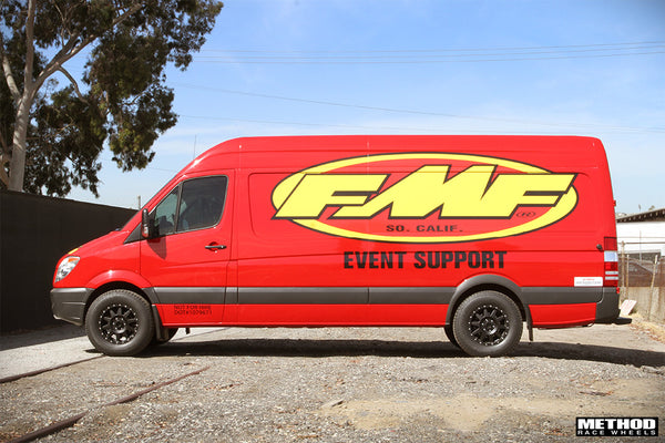Mercedes Sprinter Van black Method wheels