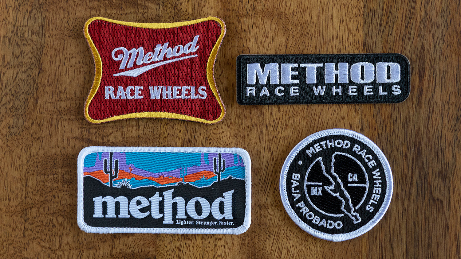 Method race wheels embroidered patch kit