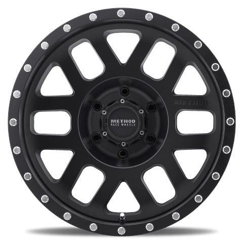 Matte Black MR306 Mesh Off-Road Wheels.