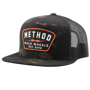 Method Bolt Patch Trucker Hat | Dark Camo Snapback