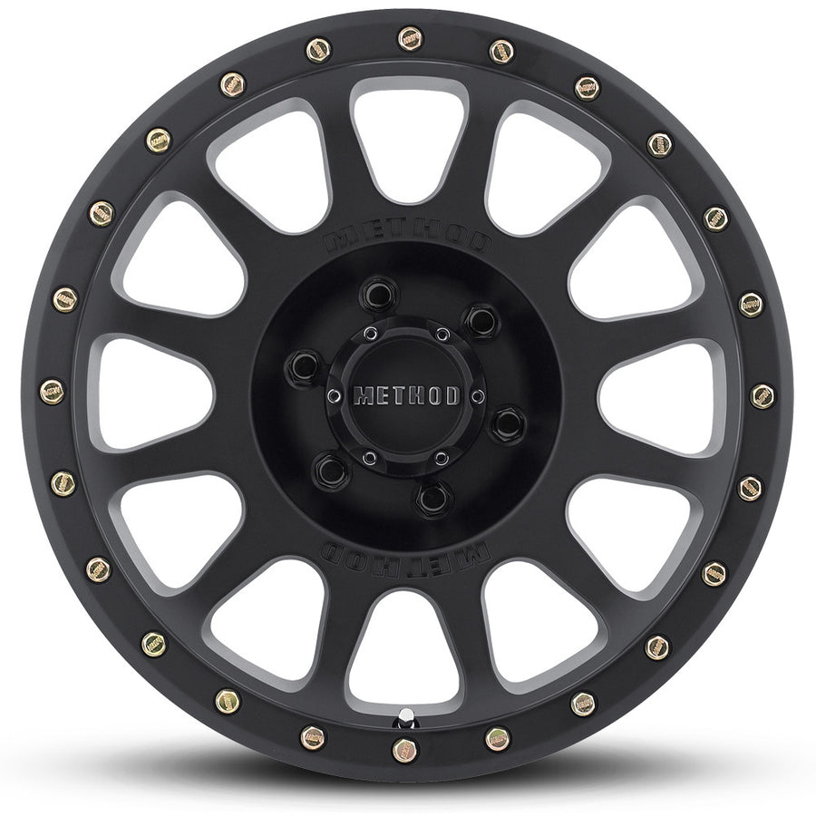 Matte Black MR305 NV Off-Road Wheels.