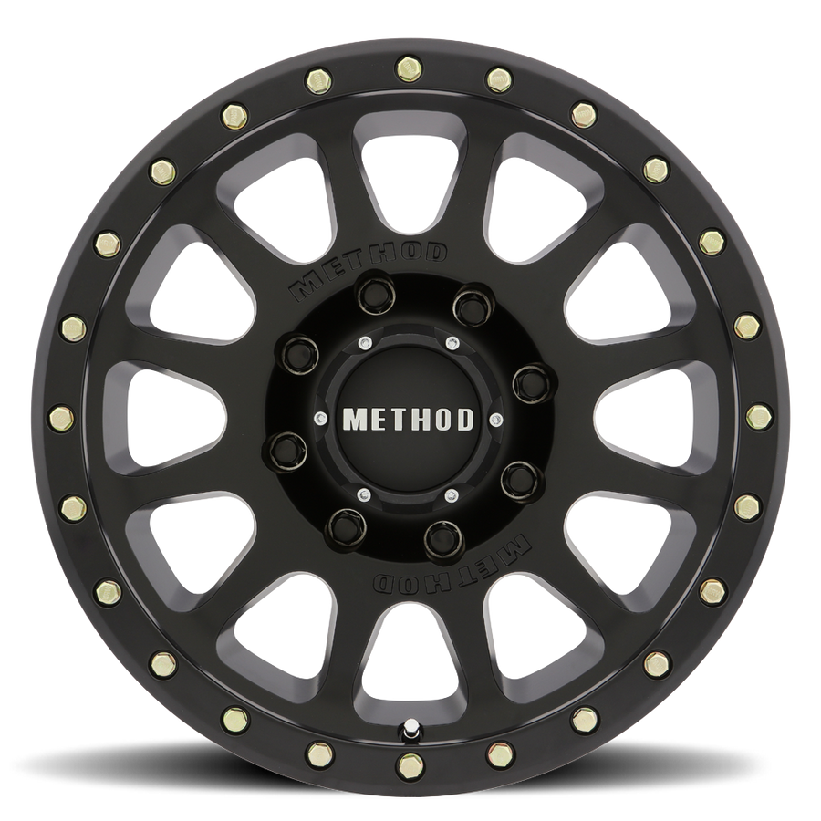 Matte Black MR305 NV HD Off-Road Wheels.