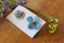 Hydrangea and Flower Medallion Gold Plated Clip-on (イヤリング)- No.50