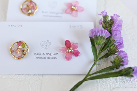 Sakura Earring with Flower Medallion