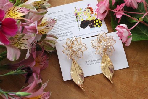 Three Layer Flower Earrings