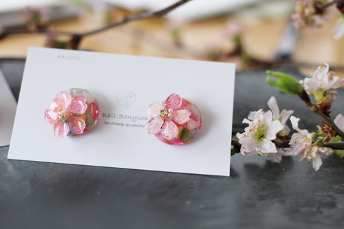 Sakura Earrings with Pastel Colored Shells