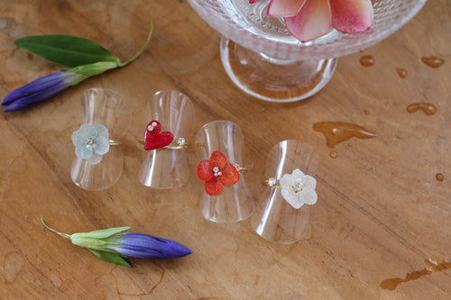 Hydrangea Rings (Limited item)- No.7