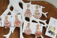 Sea Shell with Flower Earring- Clip-on(イヤリング)- No.17
