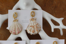 Sea Shell with Flower Earring- Titanium Pierce(チタンピアス)- No.8