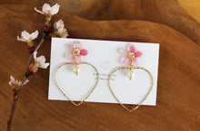 Sakura Earrings with Heart