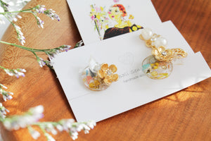 Asymmetrical Flower Earrings No.5