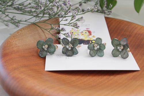 Hydrangea Rings (Limited item)- Green