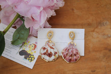 Sea Shell with Flower Earring- Clip On(イヤリング)- No.10