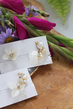 Asymmetrical Hydrangea Earrings - Clip On  イヤリング No.14