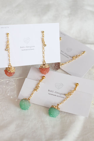 Druzy Hanging from Golden Chain