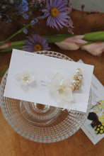 Asymmetrical Hydrangea Earrings - Clip On and Titanium pierce (チタンピアス) - No.23