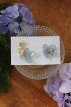 Asymmetrical Hydrangea Earrings - Clip On and Titanium pierce (チタンピアス) - No.27