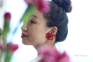 Zinnia Flower 〜 #46 Screw-back Clip-on Earring (イヤリング)