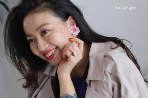 Zinnia Flower 〜 #61 Screw-back Clip-on Earring (イヤリング)