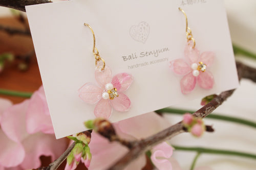Dangling Sakura Earrings