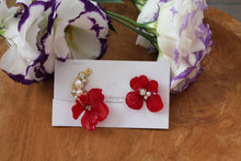 Asymmetrical Hydrangea Earrings - Clip On and Titanium pierce (チタンピアス) - No.35