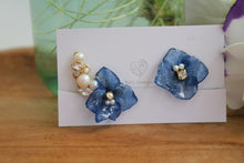 Asymmetrical Hydrangea Earrings - Clip On  イヤリング No.41